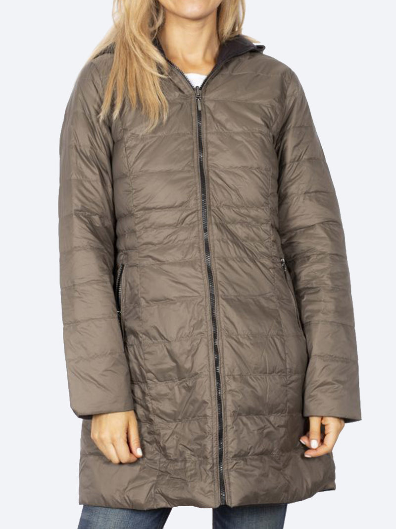 SABENA REVERSIBLE 3/4 DOWN PUFFER JACKET