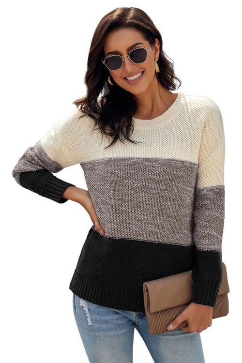 Black Color Block Sweater