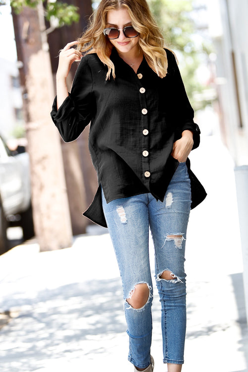 On The Go Button Down Top