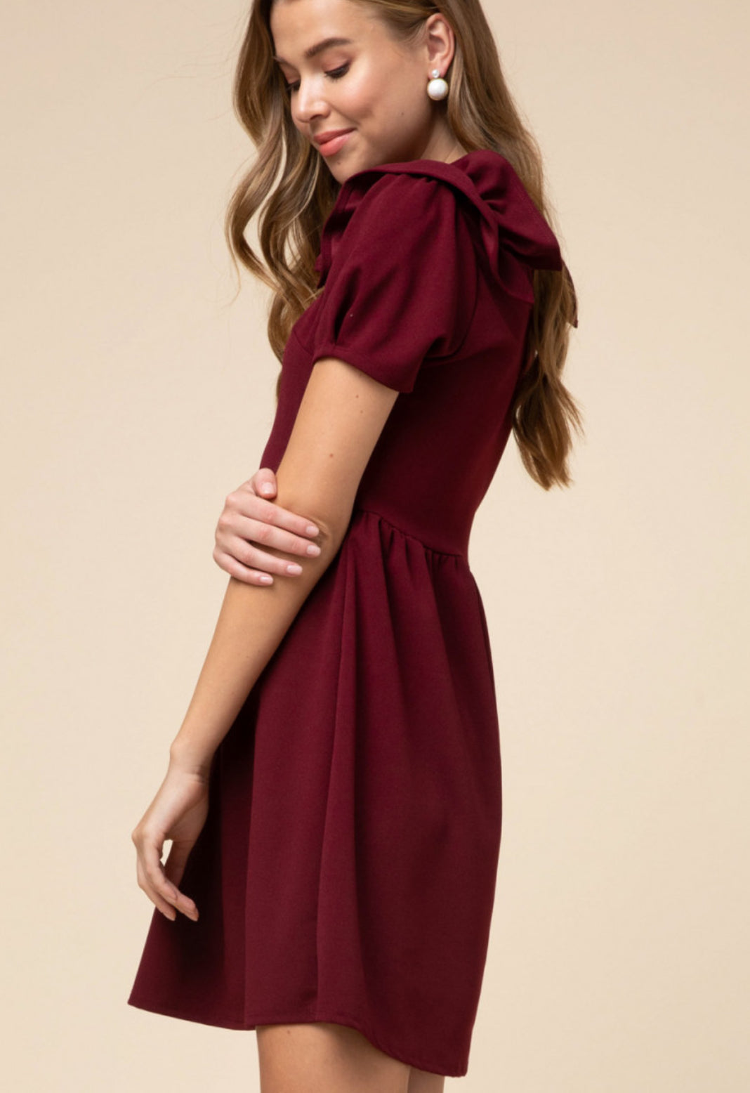 Burgundy Party On Dress