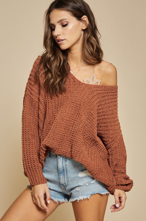 Camel Soft & Slouchy Sweater