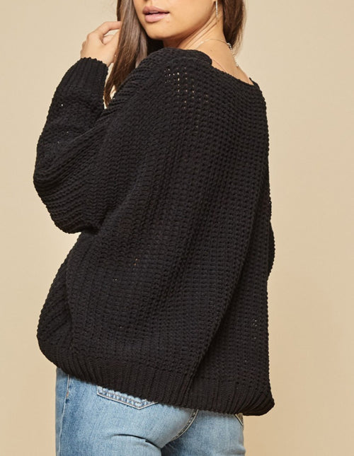 Black Curvy Soft & Slouchy Sweater