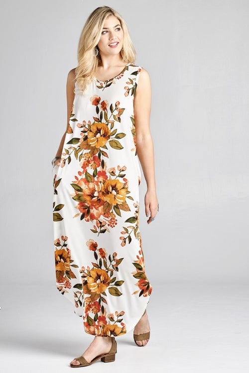 Off White Butter Soft Floral Maxi