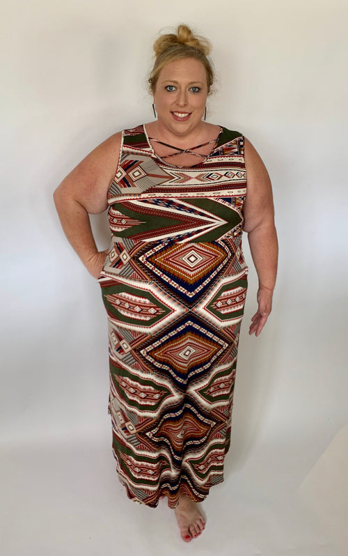 Curvy Tribal Dress