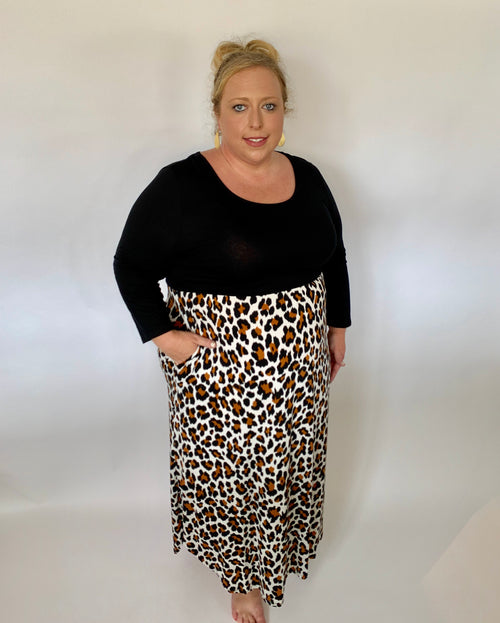 Curvy Animal Print Dress