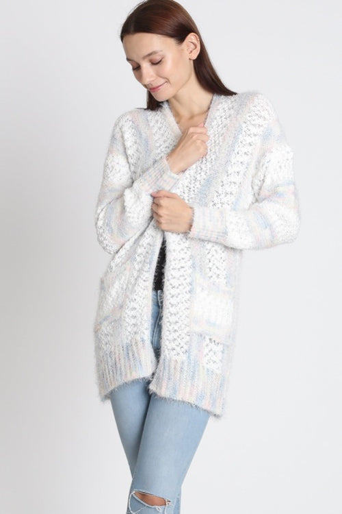 Baby Blue Multi Cozy Cardigan