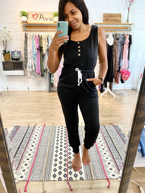 Black Homeschool N Chill Jumpsuit