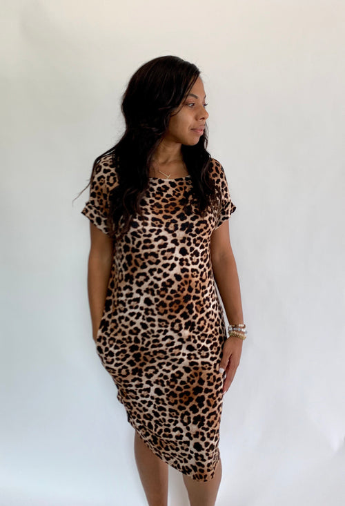 Cheetah Pocket Dress