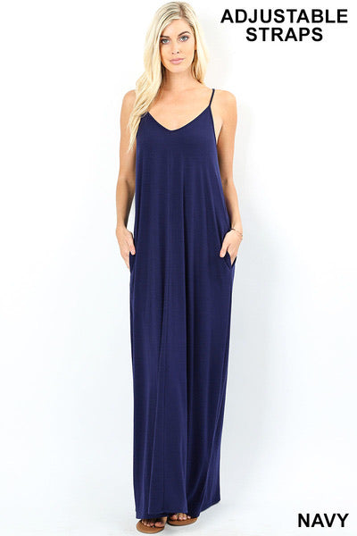 Navy Cami Maxi Dress