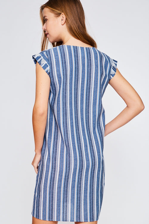 Striped Tribal Dress