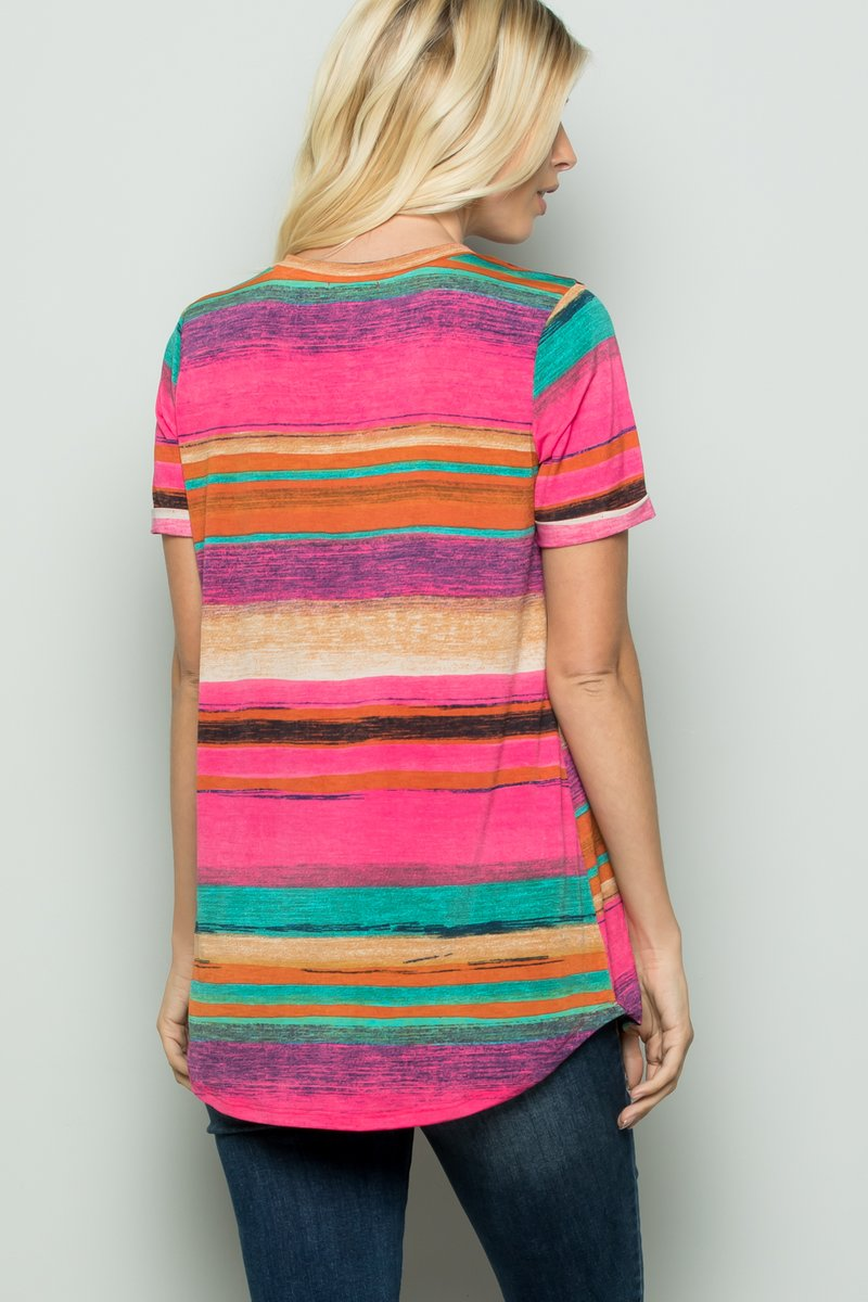Multi Color Stripe Top