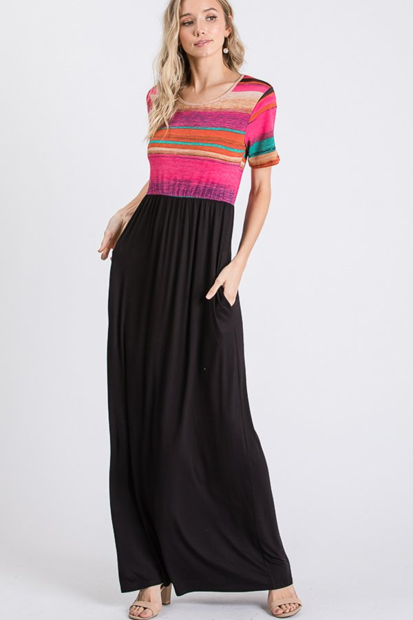Short Sleeve Multi Maxi