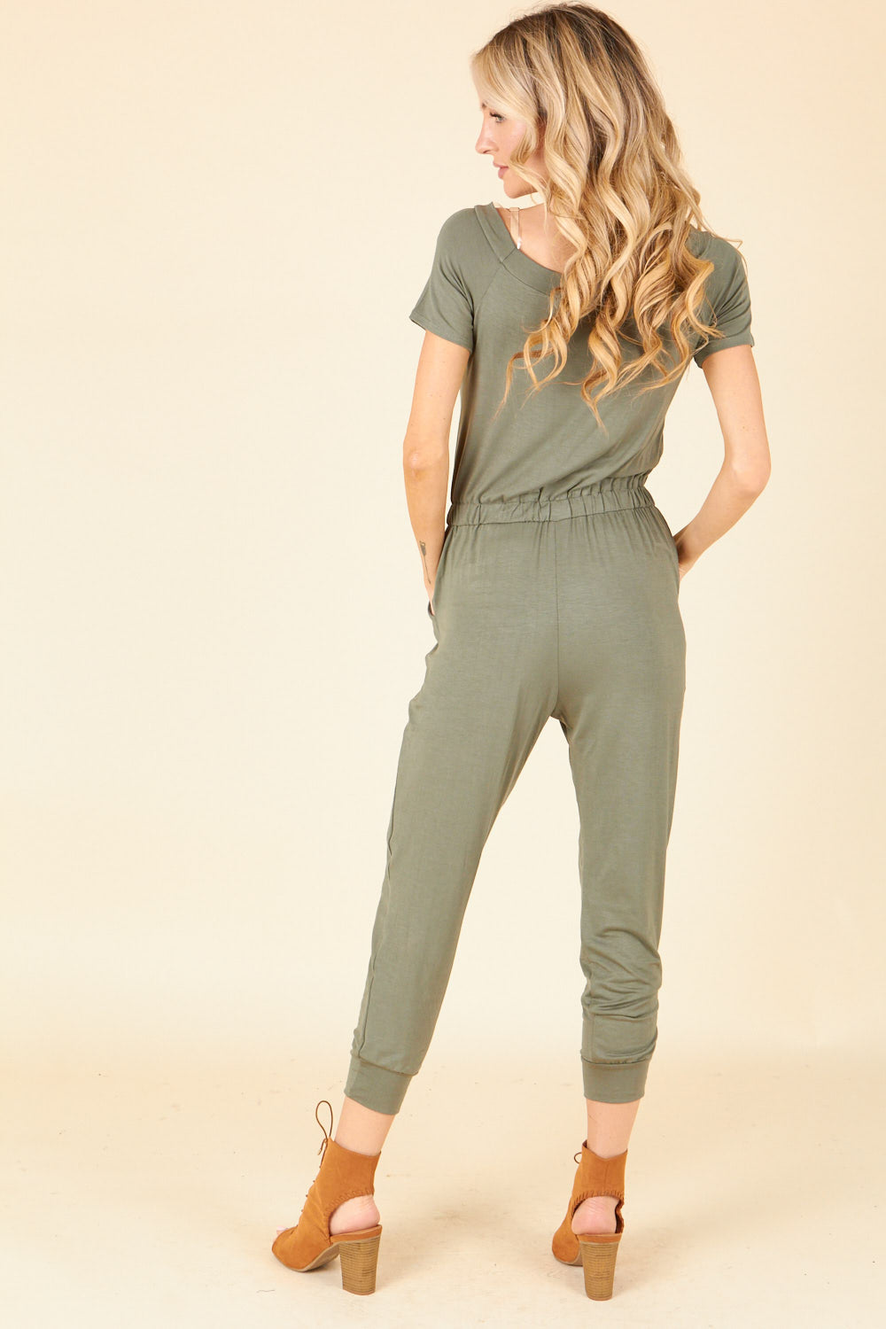 Olive Solid Jumpsuit