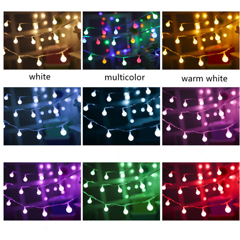 CHRISTMAS ORNAMENTS BALLS STRING LIGHTS