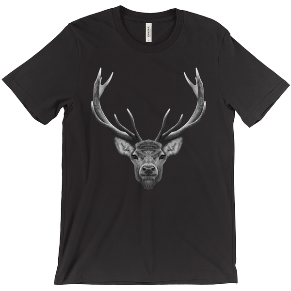 Men's Stag Tee Black/White