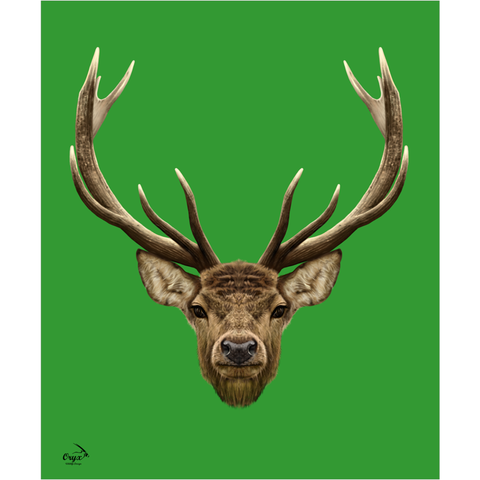 Stag Poster Green