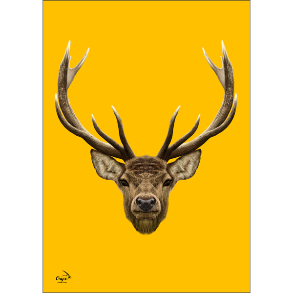 Stag Poster Yellow