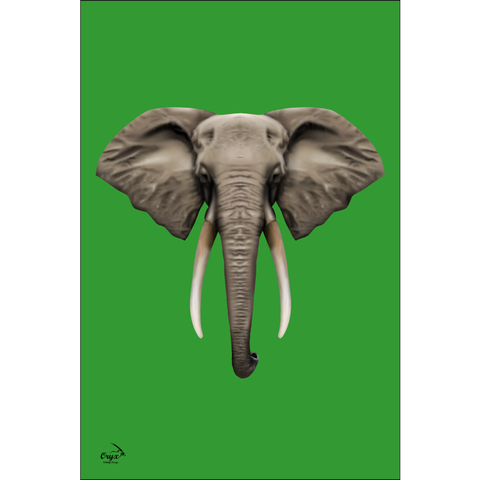 Elephant Poster Green