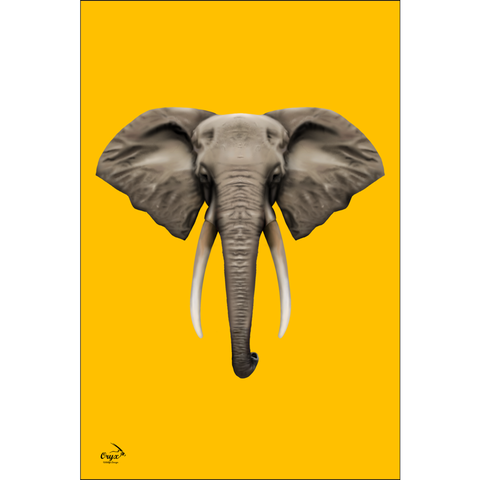 Elephant Poster Yellow