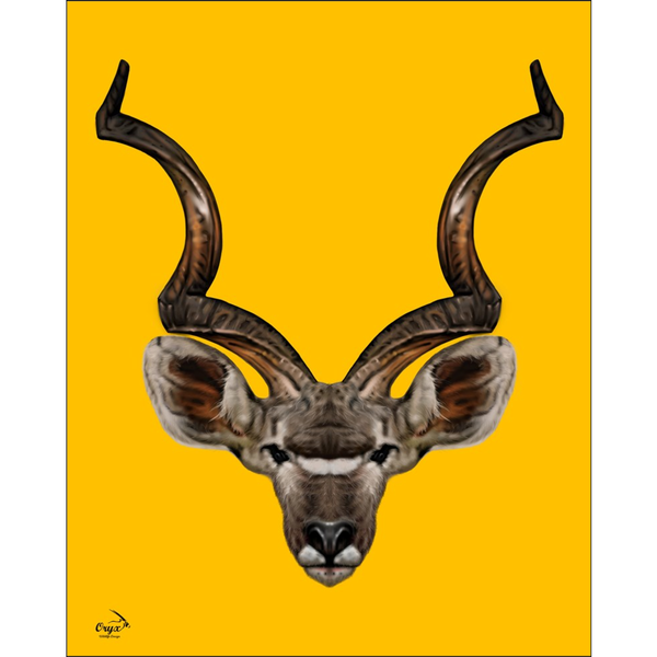 Kudu Poster Yellow