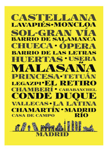 <transcy>Madrid Neighborhoods Art Print</transcy>