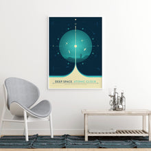 Deep Space Atomic Clock poster in blue
