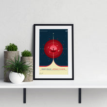 Deep Space Atomic Clock poster in red