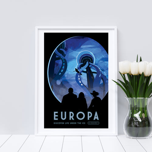Europa vintage-style travel poster