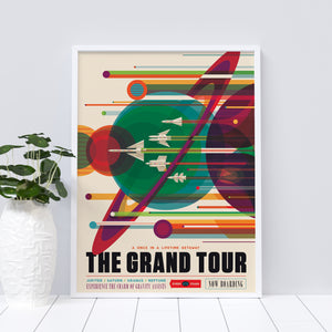 The Grand Tour vintage-style travel poster