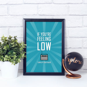 Sale - Radio quote print in green