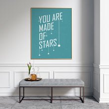 You are made of stars typography art print