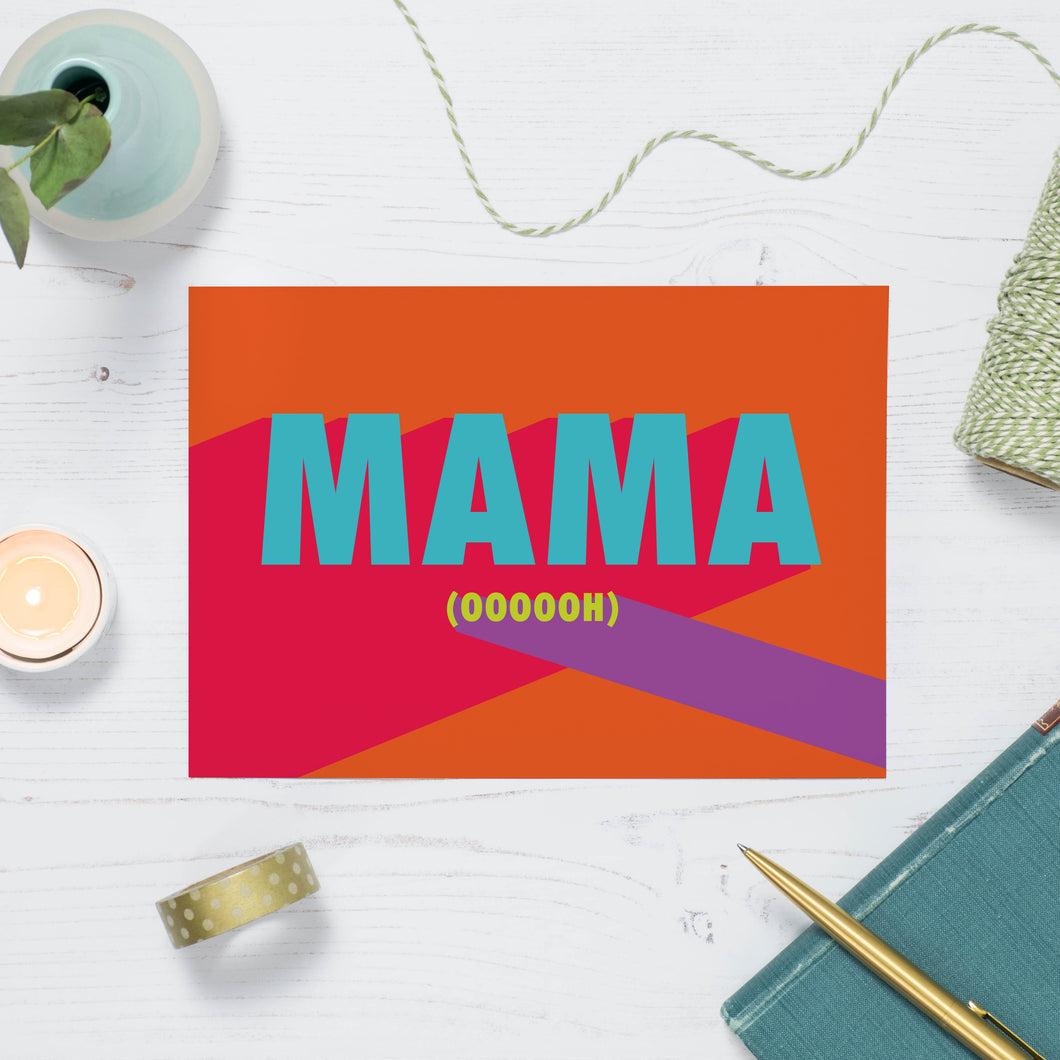 Mama Oooooh Song Lyric Greetings Card
