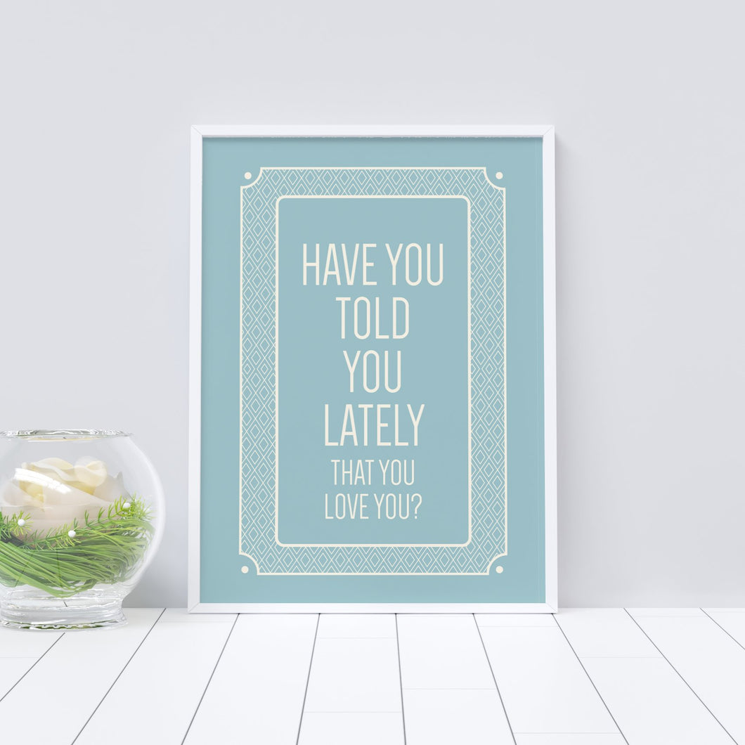Positive quote art print