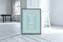 Typography art print, love yourself