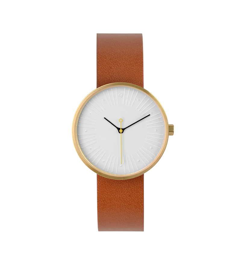 No.4 • 33mm • Gold/White/Brown