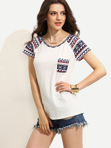 DELIGHTFUL! Fun-themed Geometric Print Womens T-shirt / Top