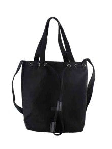 SAVVY! Black New Casual Big Canvas Shoulder Bag For Women