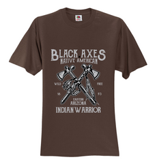 Black Axes INDIAN WARRIOR Unisex T-Shirt