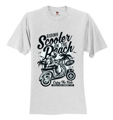 Scooter Beach Unisex T-Shirt