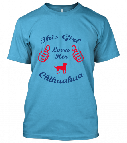 girl loves her chihuahuaUnisex T-Shirt