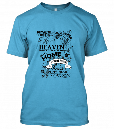 04-Best=Friend-heaven-in-my-home-black Unisex T-Shirt
