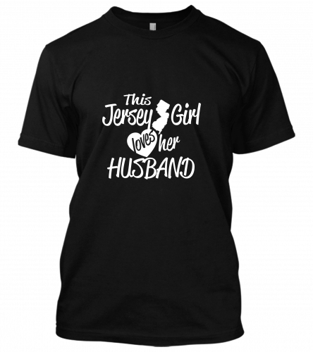 this jersey girl loves her husband Unisex T-Shirt