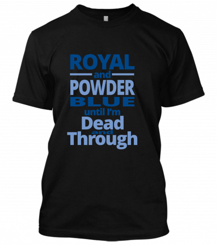 01 royal and powder blue Unisex T-Shirt