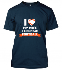 02 i heart my  wife & cincinnati football  Unisex T-Shirt