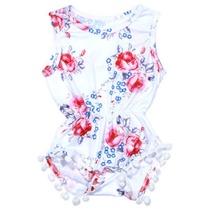 Floral Romper One-piece Outfit