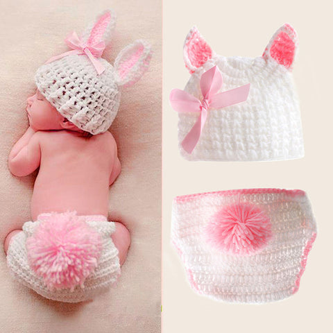 Crochet Knit Costume Baby Photography Outfits Prop