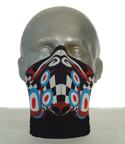 Bandero men's long neck Psychedelic biker mask