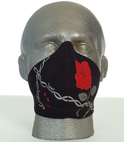 Bandero women's Rose biker mask