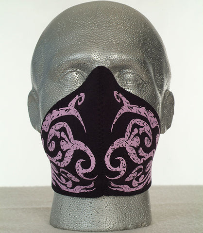 Bandero women's Tibal Flames biker mask in pink