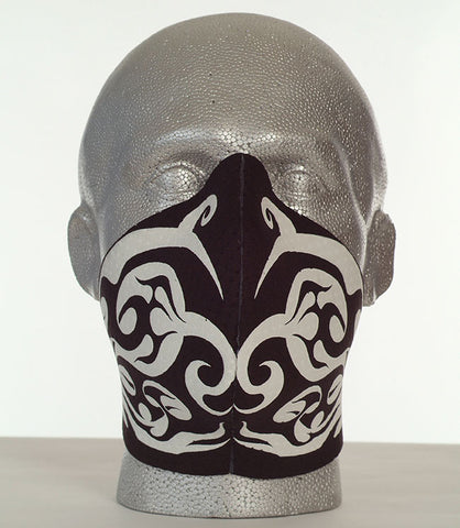 Bandero women's Tribal Flames biker mask in white